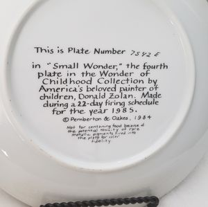 Small Wonder Collectors Plate